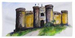 Castle Nuovo, Napoli Hand Towel
