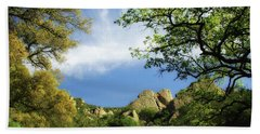 Castle Rock Hand Towel by Donna Blackhall
