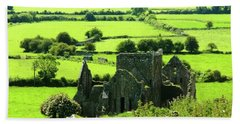 Castle Ruins Countryside Bath Towel