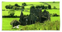 Castle Ruins Countryside Bath Towel