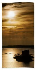 Castle Stalker At Sunset, Loch Laich Bath Towel
