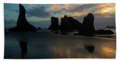 Hand Towel featuring the photograph Castles In The Sand by Mike Dawson