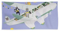 Cat Air Show Hand Towel by Pat Scott