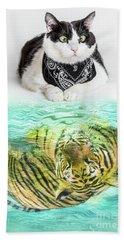 Cat And Tiger Bath Towel