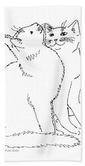 Cat-art-curious Bath Towel