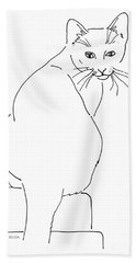 Cat-artwork-prints Bath Towel