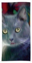 Cat Boticas Portrait 2 Hand Towel
