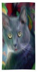 Cat Boticas Portrait 3 Hand Towel