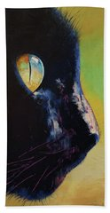 Cat Eye Hand Towel by Michael Creese