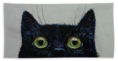Cat Eyes Hand Towel by Michael Creese