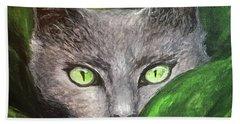 Cat Eyes Hand Towel