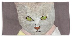 Cat In Kimono Hand Towel