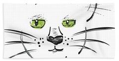 Cat Meow Bath Towel