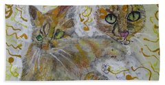 Cat Named Phoenicia Hand Towel by AJ Brown