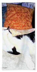 Cat Nap - Zen And The Art Of Washing Hand Towel