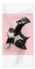 Cat Selfie Hand Towel