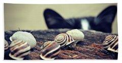 Cat Snails Hand Towel
