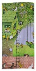 Cat Tree House Bath Towel
