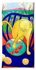 Cat - Tribute To Matisse Bath Towel