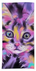 Cat Wild Thing Hand Towel by Go Van Kampen
