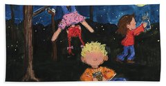 Catching Fireflies Hand Towel by Terri Einer