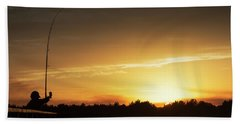 Catching The Sunset Hand Towel by Phil Mancuso