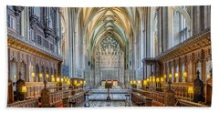Bath Towel featuring the photograph Cathedral Aisle by Adrian Evans