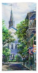 Cathedral At Orleans Hand Towel