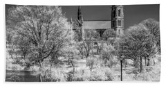 Bath Towel featuring the photograph Cathedral Basilica Of The Sacred Heart Ir by Susan Candelario
