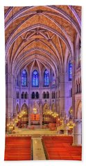Bath Towel featuring the photograph Cathedral Basilica Of The Sacred Heart Newark Nj II by Susan Candelario