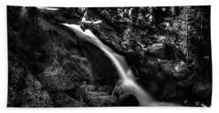 Cathedral Falls From The Tioga Pass Road Bath Towel