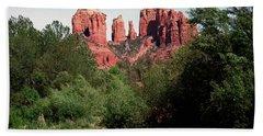 Cathedral Rock And Oak Creek Sedona Arizona Hand Towel