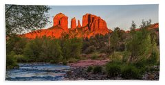 Cathedral Rock At Red Rock Crossing Hand Towel