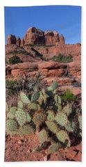 Cathedral Rock Cactus Grove Bath Towel