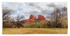 Cathedral Rock Panorama Hand Towel by James Eddy