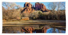Cathedral Rock, Sedona Bath Towel by Barbara Manis