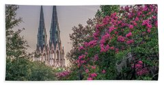 Hand Towel featuring the photograph Cathedral Spires At Sunset by Rob Sellers