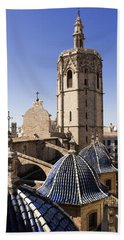 Cathedral Valencia Micalet Tower Bath Towel