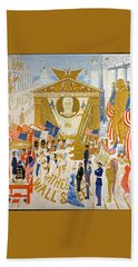 Bath Towel featuring the photograph The Cathedrals Of Wall Street - History Repeats Itself by John Stephens