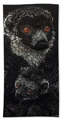 Catherina And Baby Abby Hand Towel by Linda Becker