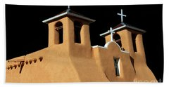 Hand Towel featuring the photograph St Francis De Assi Church  New Mexico by Bob Christopher