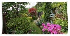 Cathy's Garden - A Little Slice Of England Bath Towel by Gill Billington