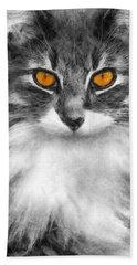 Cats Eyes Bath Towel by Ian Mitchell