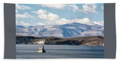 Catskill Mountains With Lighthouse Hand Towel