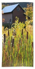 Cattails And Barn Bath Towel
