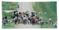 Cattle Drive Hand Towel