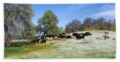 Cattle N Flowers Hand Towel