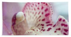 Hand Towel featuring the photograph Cattleya Orchid Abstract 1 by Jenny Rainbow