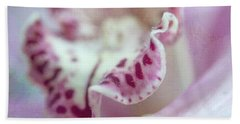 Hand Towel featuring the photograph Cattleya Orchid Abstract 2 by Jenny Rainbow