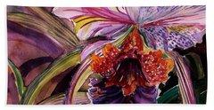 Cattleya Orchid Hand Towel